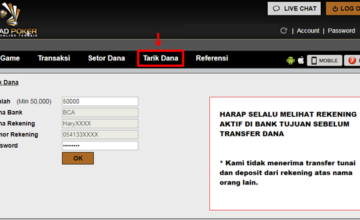 Tutorial cara withdraw di Jagadpoker